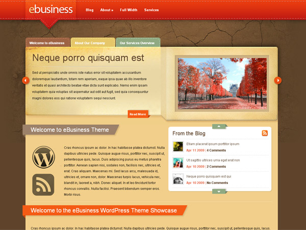 thesis theme website design