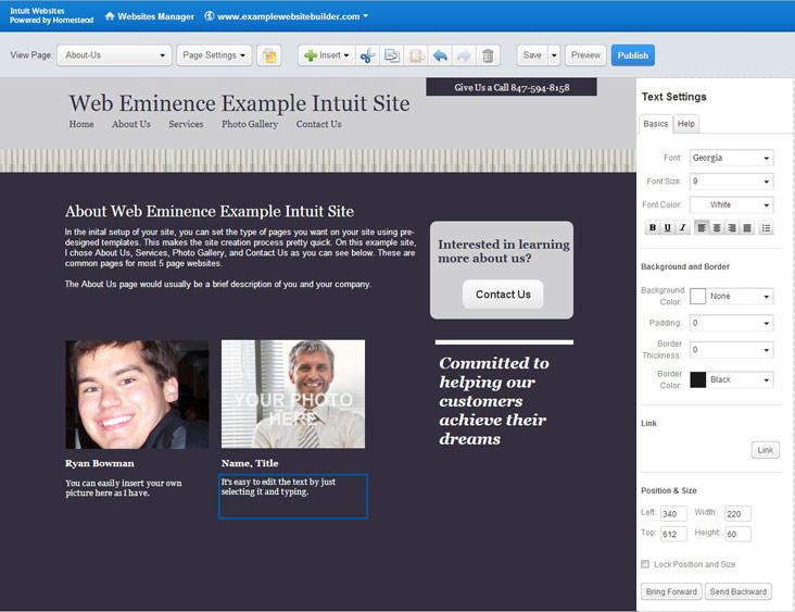 Intuit SiteBuilder