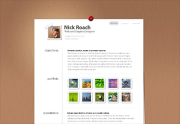 resume website template stand out from the crowd - Resume Web Template