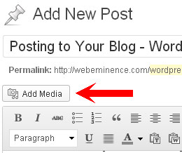 Add Pictures WordPress