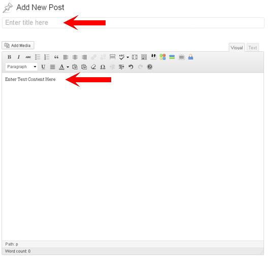 Wordpress Title Content