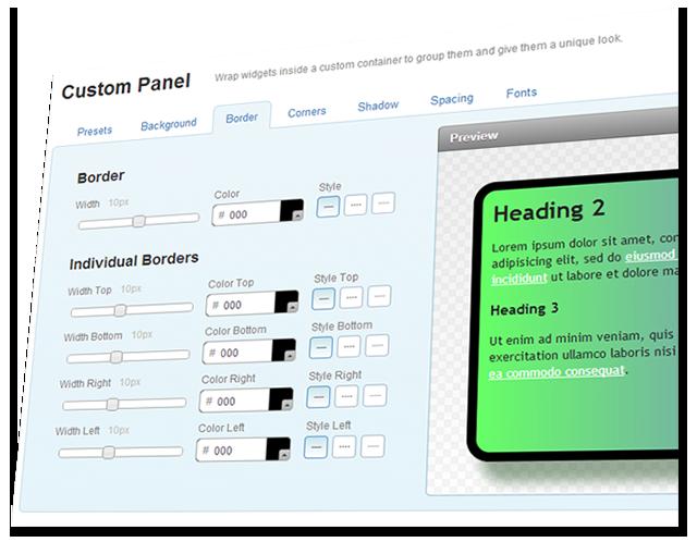 Yola Custom Panel Widget