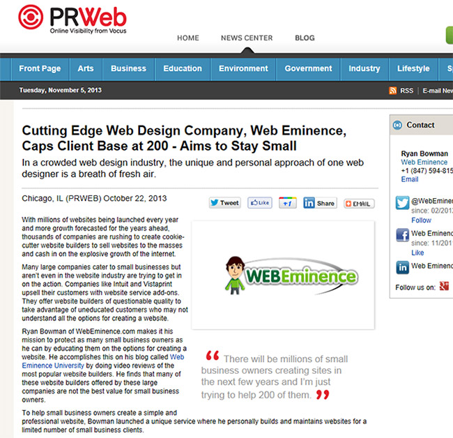 Press Releases for Small Business – See My Results