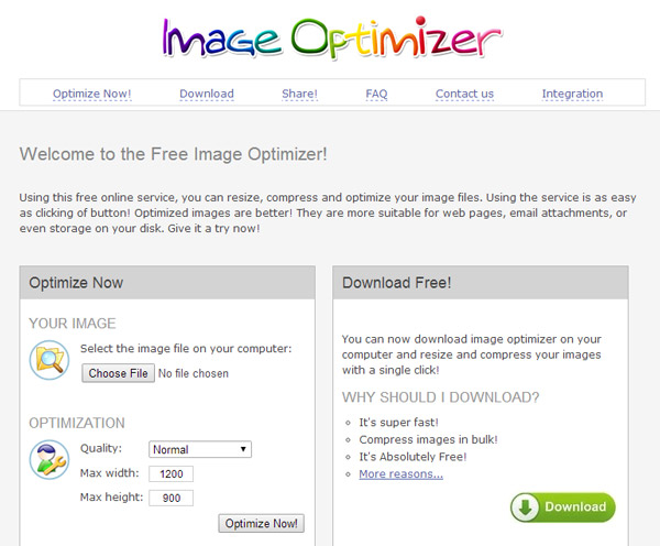Using ImageOptimizer