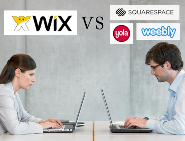 Wix compared to Weebly,Squarespace,Yola