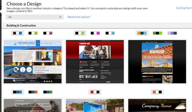 Web.com design themes