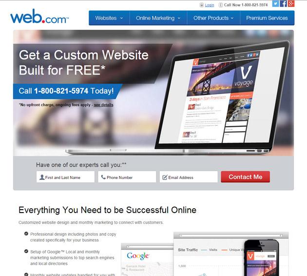 Web.com homepage