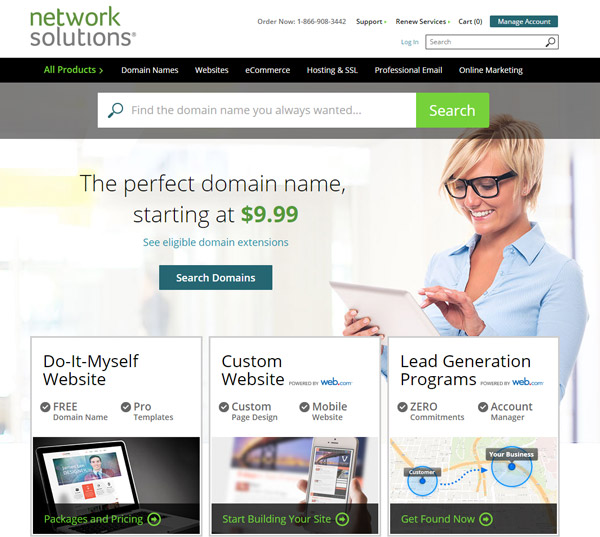 Network Solutions Website