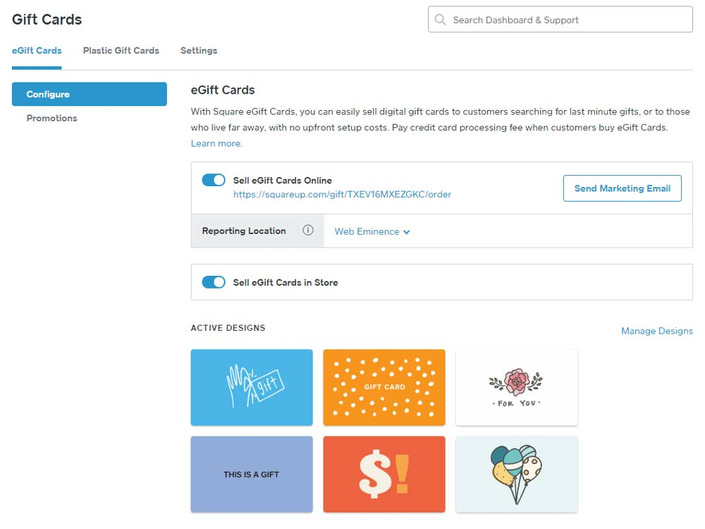 Gift Cards Square Appointments