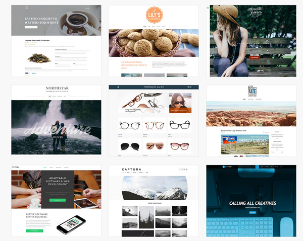 Weebly New Design Themes