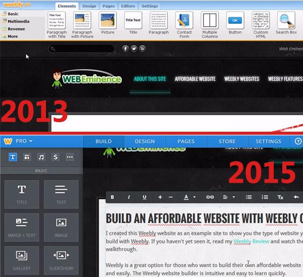 Weebly updated website builder