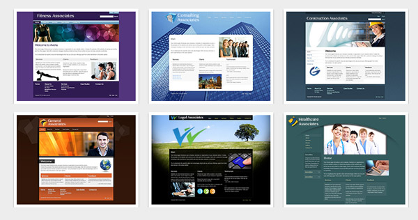 Design Themes Offered by BuildYourSite