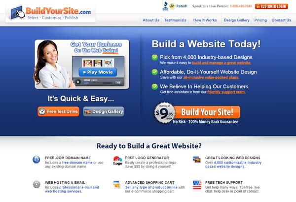 BuildYourSite.com Home Page