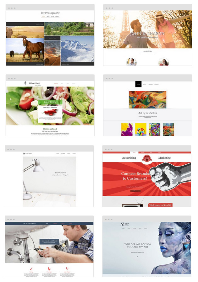 WebsiteBuilder.com Design Templates