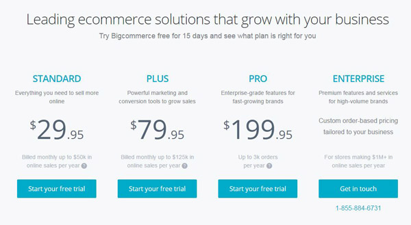 BigCommerce Pricing Pro Plan