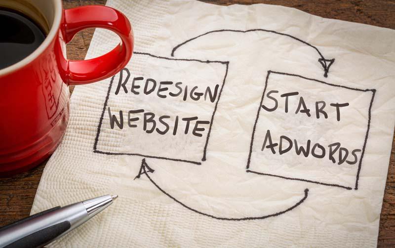 Site Redesign Start Adwords