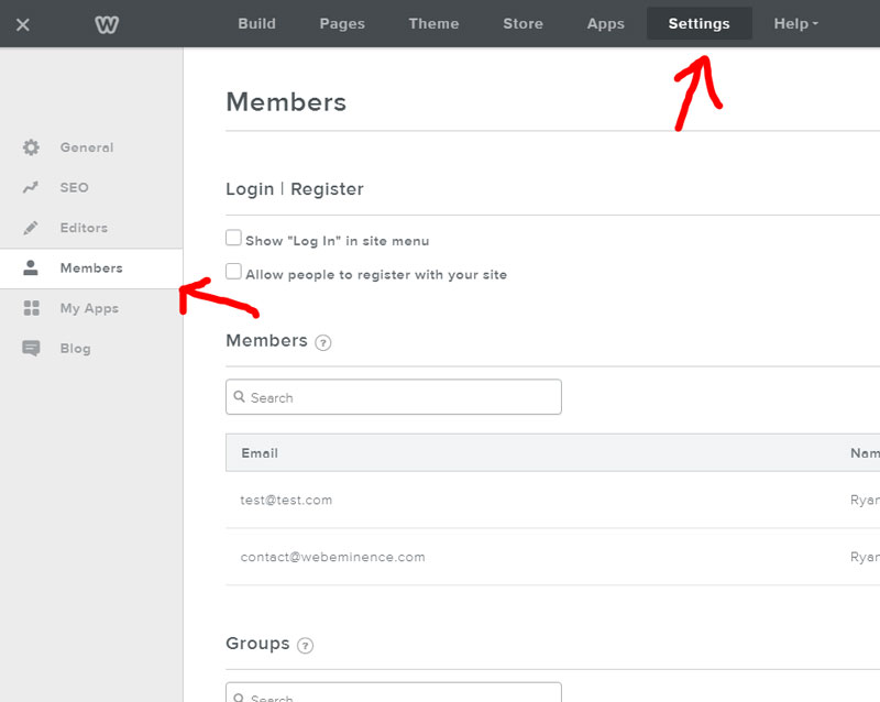 Weebly Membership Access