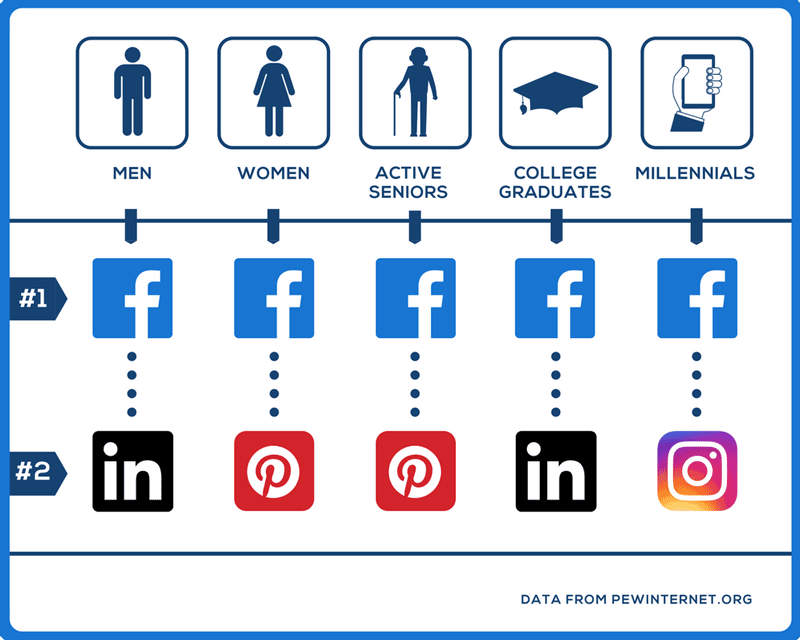 Top Social Media Networks by Demographic