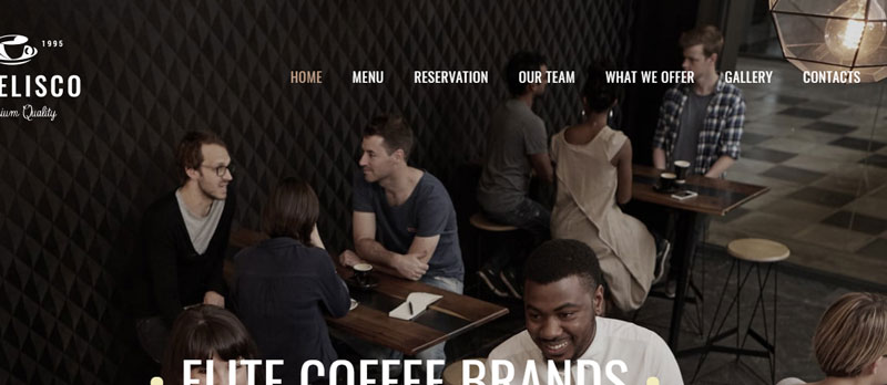 Pages of Coffee Shop Site