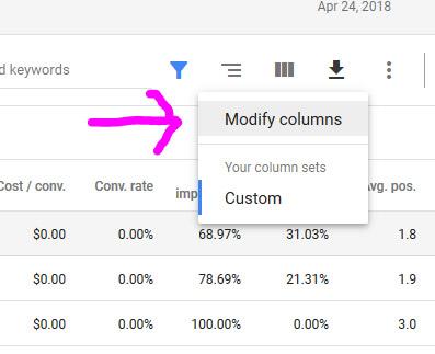Modify Columns Quality Score