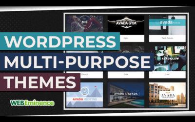 WordPress Multipurpose Themes – Don't Overlook Them