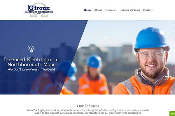 5 Page Electrician Website