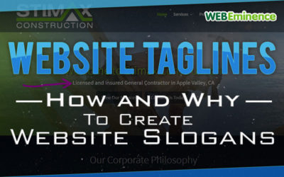 Website Taglines: 6 Tips On How To Create a Slogan For Your Website