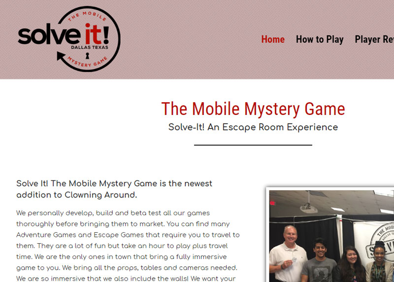 escape room example website slogan