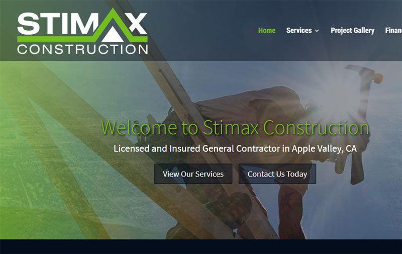 construction website example tagline