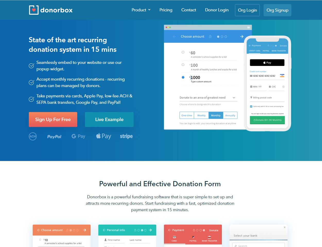 DonorBox Online Donations